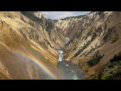 Grand Canyon of the Yellowstone National Park, USA in 4K (Ultra HD)