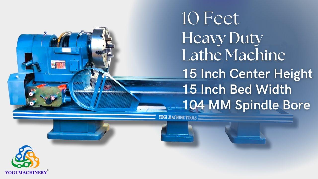 10 Feet Heavy Duty Lathe Machine | 15