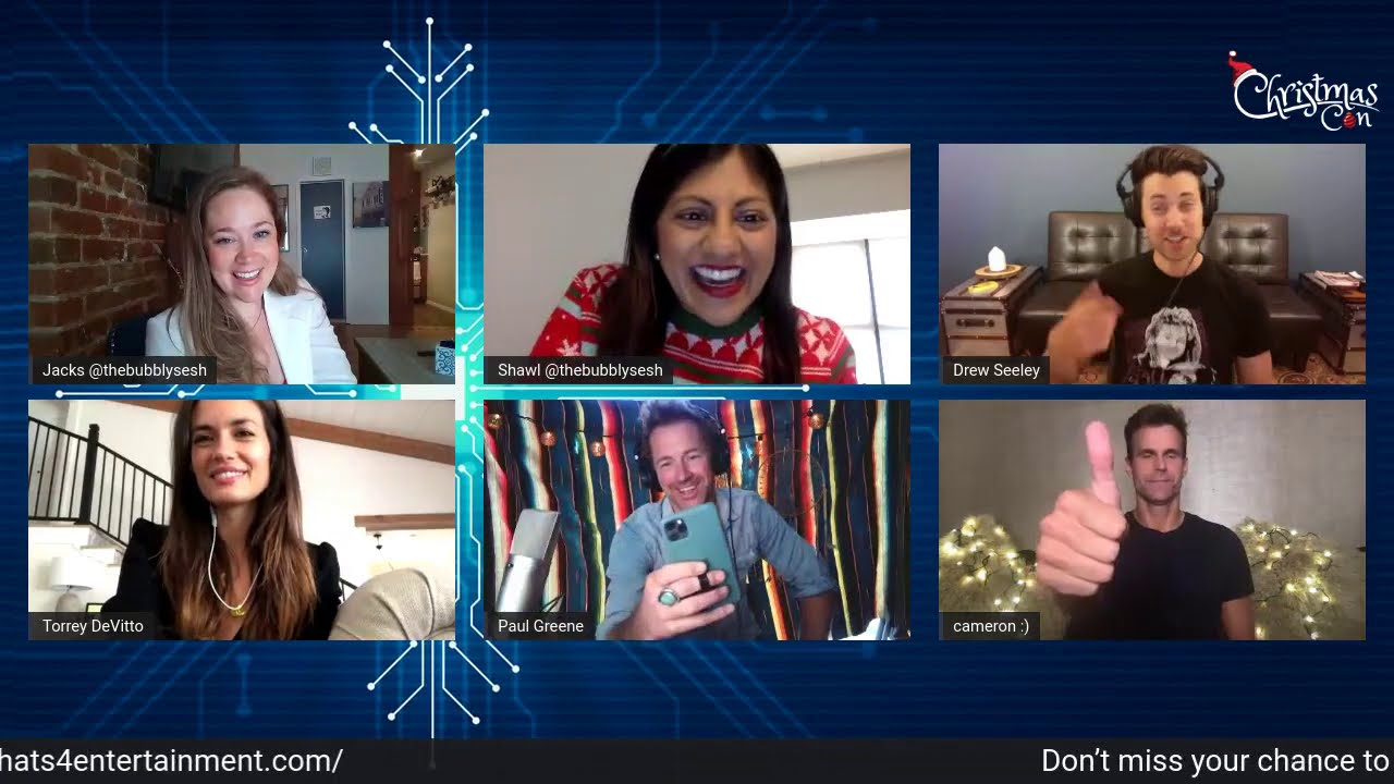 Christmas Virtual Con - PANEL: Torrey, Cameron, Paul & Drew. Hosted by  Bubbly Sesh