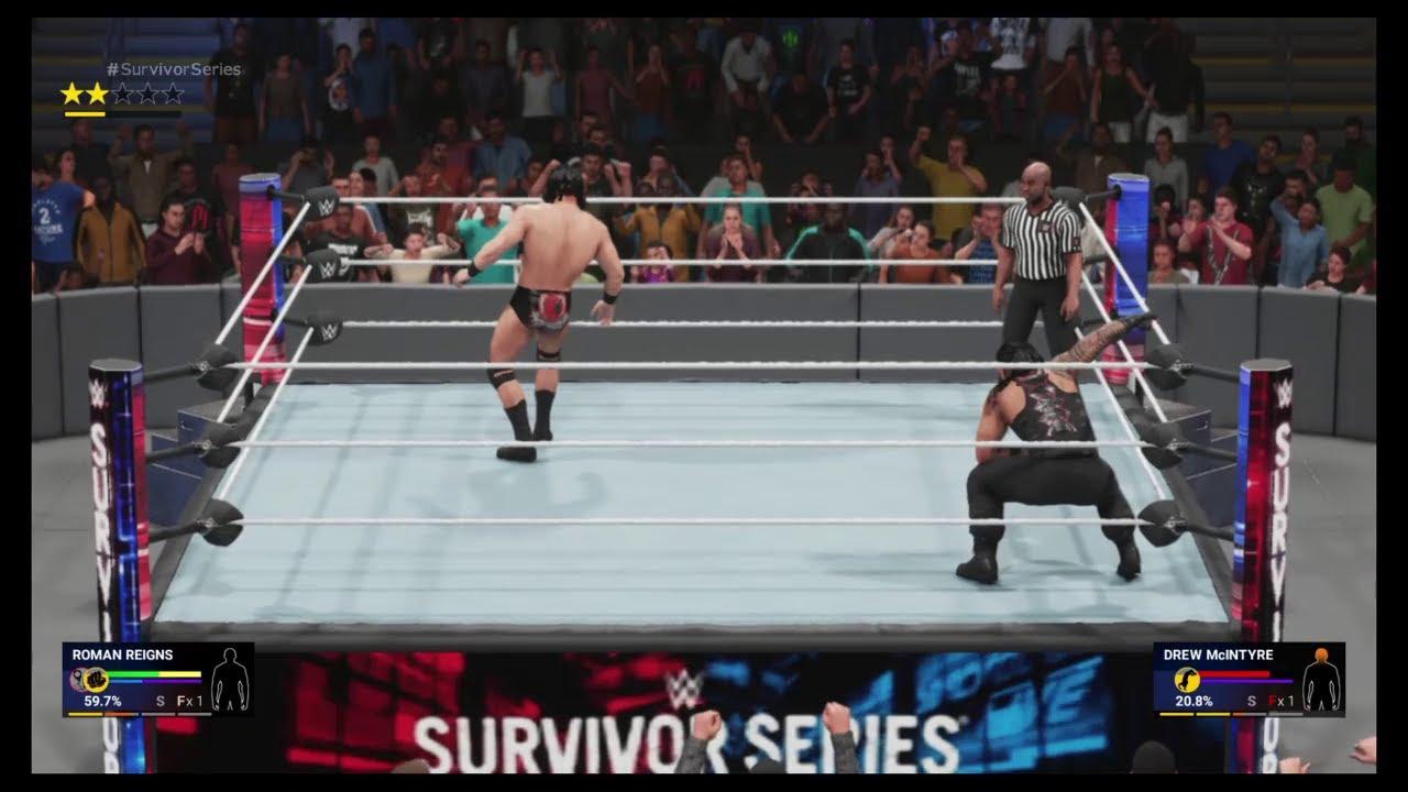 Roman Reigns Destroys Drew McIntyre   Champion vs Champion Stellar Match HD - WWE 2K19 PS4 Gameplay