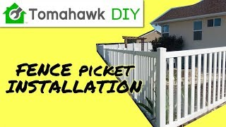 Install Vinyl Fence Rail and Pickets (Part 2, Picket Fence Series)