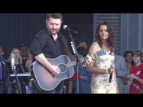 "Chris Young and Tristan McIntosh ""When You Say Nothing At All"" 6-8-16"