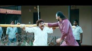 Jaggesh & Kuri Prathap in Heroine Home Comedy Scenes   Cool Ganesha Kannada Movie