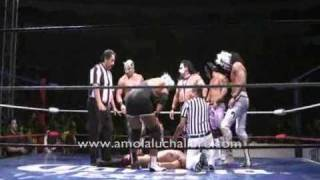 DR CEREBRO TRAUMA I TRAUMA II (Independientes) VS CMLL VIRUS PUMA KING TIGER KID