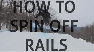 How to spin off of rails on skis (pedaling)