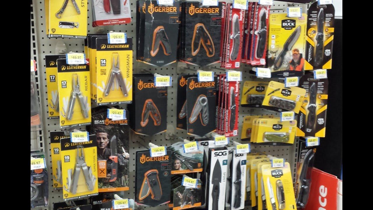Walmart Knives Knife Selection Not Bad Youtube