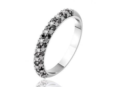 Золотое кольцо с черными и белыми бриллиантами Бриллиантовая россыпь , КД7422/1ЧЕРН