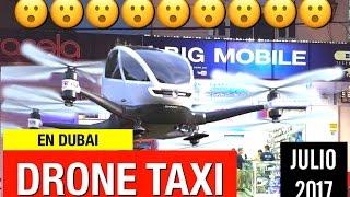 En dubai taxi drone para julio 2017- la revolucion del transporte personal