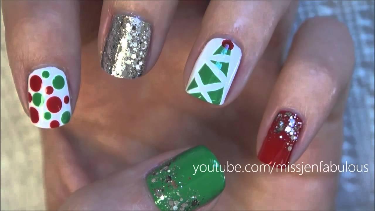 Easy Christmas Nail Art Designs Youtube