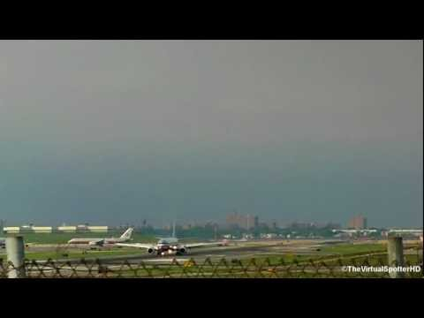 Time-Lapse At New York's La-Guardia Airport
