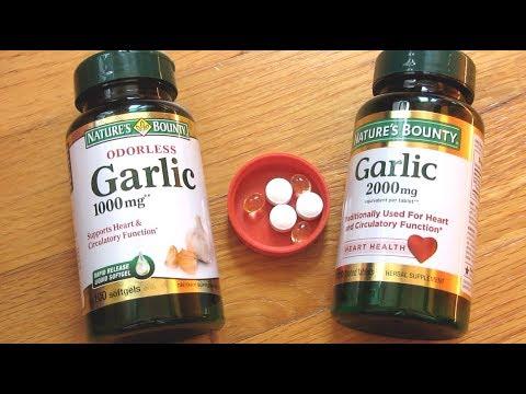 Natures Bounty Garlic Pills   Soft Gels vs Tablet