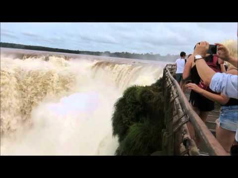 Iguazu Falls Devil's Throat Huge Amount of Water