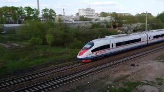 Сапсан Москва-Санкт-Петербург подъезжает к станции Тверь(, 2015-05-14T20:06:38.000Z)