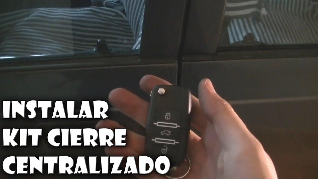 60f3351a7 Instalar un kit de cierre centralizado en el coche - YouTube