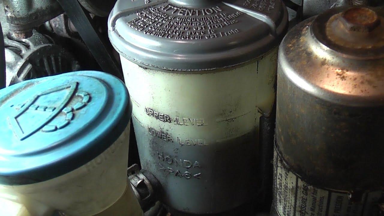 Used Jeep Grand Cherokee Srt8 >> 94-97 Honda Accord Power Steering Leak Diagnosis - YouTube