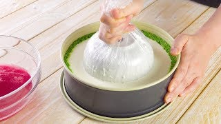 Вытягиваем миску из кремовой начинки. Роскошный результат!