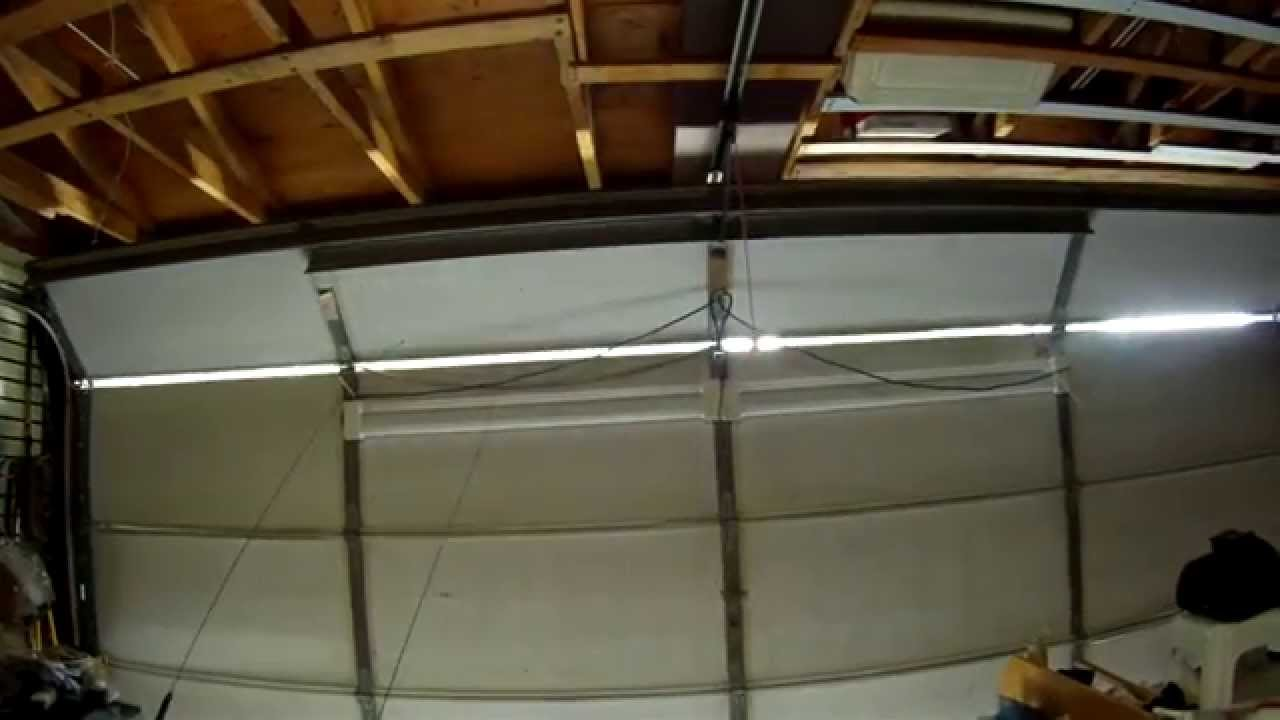 I love this installing 4 led light fixtures on my overhead installing 4 led light fixtures on my overhead garage door youtube rubansaba