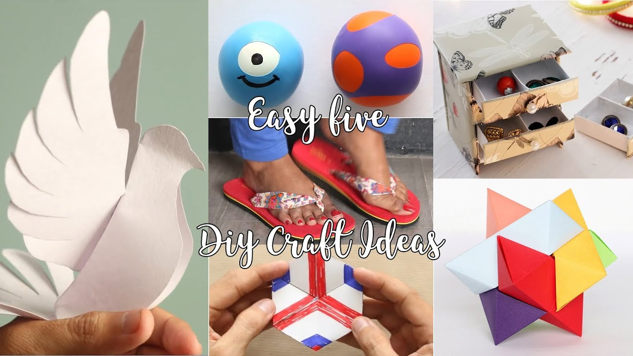 Easy 5 Diy Craft Ideas Youtube