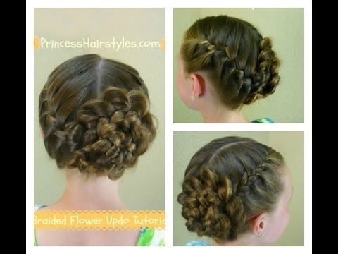 Braided Flower Updo Easter Prom Hairstyles Youtube