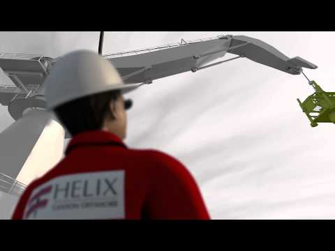 Offshore construction animation clip