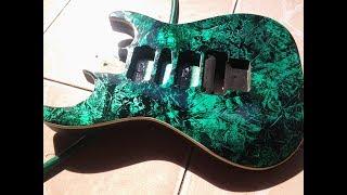 Pintura 3D em Guitarra - Guitar with 3d paint
