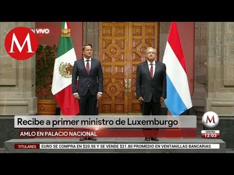 AMLO recibe al primer ministro de Luxemburgo