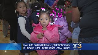 Local Auto Dealers Give Away Coats To Elementary School Students