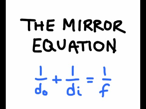 The mirror equation concave mirrors youtube for Mirror formula