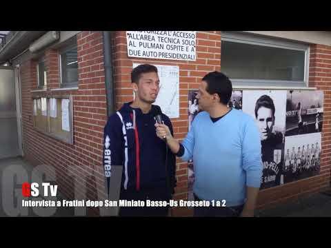 Gs Tv - intervista a Fratini dopo San Miniato Basso-Us Grosseto 1 a 2