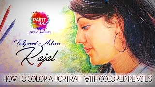 Kajal Aggarwal with Colored Pencils | artist colored pencils | online art classes