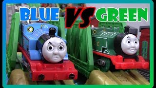 BLUE VS GREEN! THE GREAT RACE #270 THOMAS AND FRIENDS TRACKMASTER TOY TRAINS FOR KIDS
