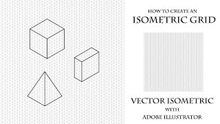 So erstellen Sie isometrische raster in Adobe Illustrator. How to create an Isometric grid.