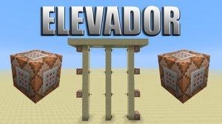 Elevador mega rápido usando blocos de comandos - Minecraft Tutorial 35.