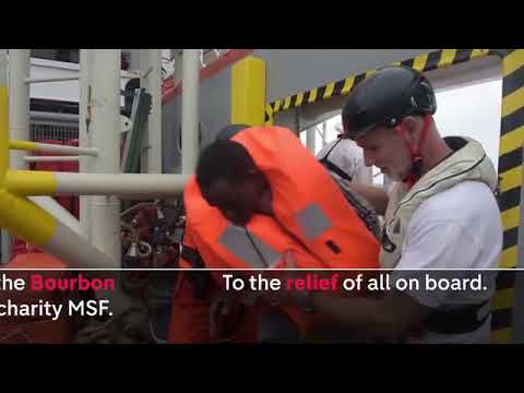 Mediterranean migrant rescue on Channel 4 News