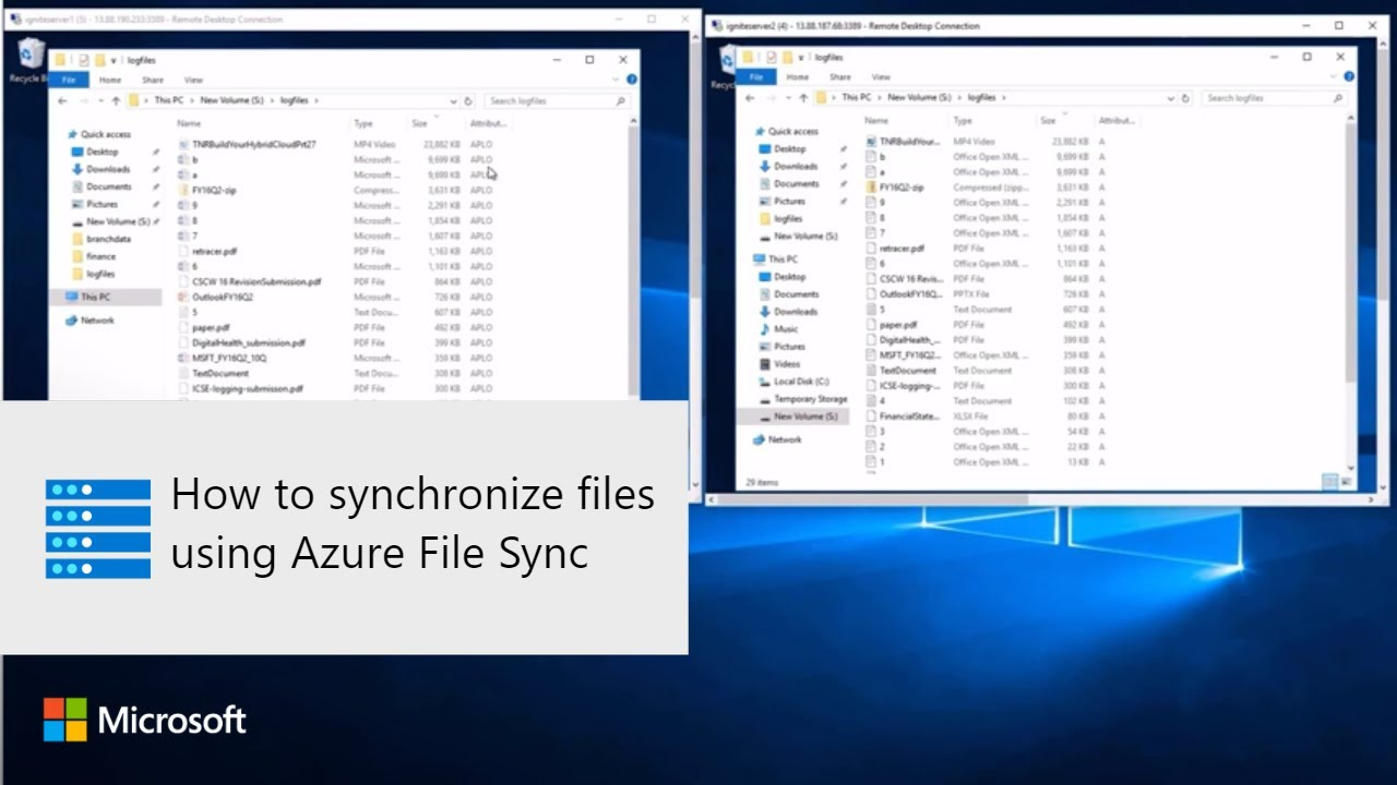How to synchronize files using Azure File Sync