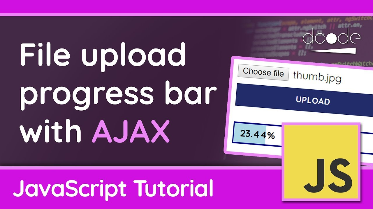 Creating an AJAX file upload progress bar in JavaScript