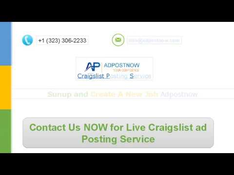 Craigslist Posting Service | Expert Craigslist Posting Team