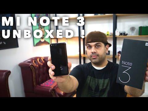 Xiaomi Mi Note 3 Unboxing : MIUI 9