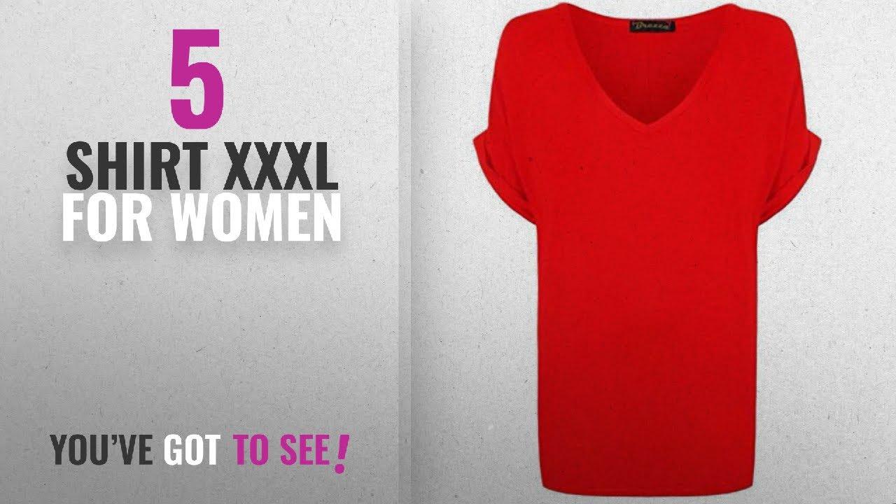 2b68b1908442c7 Top 10 Shirt Xxxl For Women  2018   New Ladies Women V Neck Turn Up Short  Sleeve Baggy T-Shirt Top
