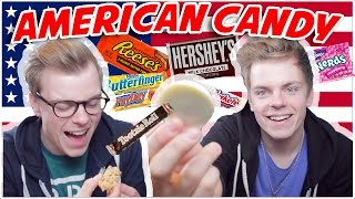 One of Niki and Sammy's most viewed videos: BRITISH TWINS TRY AMERICAN CANDY | NikiNSammy