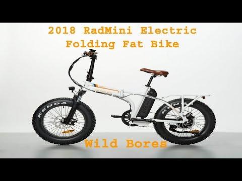 2018 RADMINI  ELECTRIC FAT FOLDING RAD POWER BIKE 22 Wild Bores