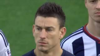West Brom vs Arsenal - Players sing French national anthem-Joueurs d
