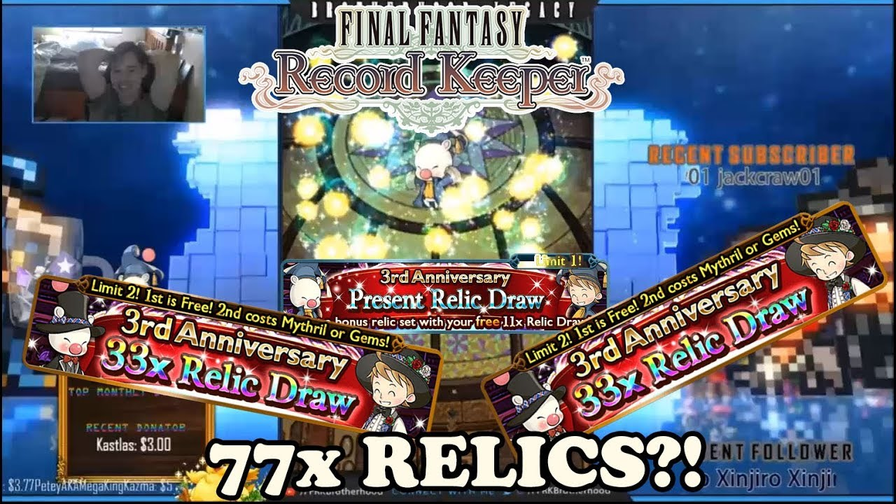 [FFRK] 77 RELICS?! HAPPY 3RD ANNIVERSARY FINAL FANTASY RECORD KEEPER!!