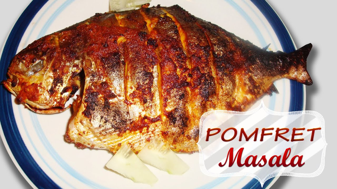 Pomfret masala seafood recipes healthy maincourse dishes youtube forumfinder Gallery
