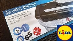 Unboxing - Lidl United Office Document shredder