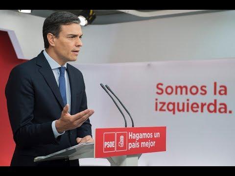 Declaración de Pedro Sánchez en Ferraz
