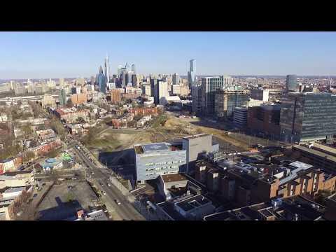 Flight over Penn Presbyterian University City, Philadelphia