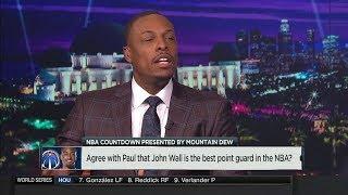 Paul Pierce: John Wall Is the best Point Guard in the NBA | NBA Countdown | Oct 25, 2017