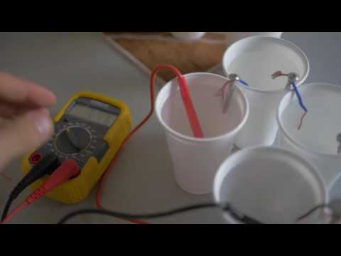 Green Lab: Salt batteries 5volts Free energy source
