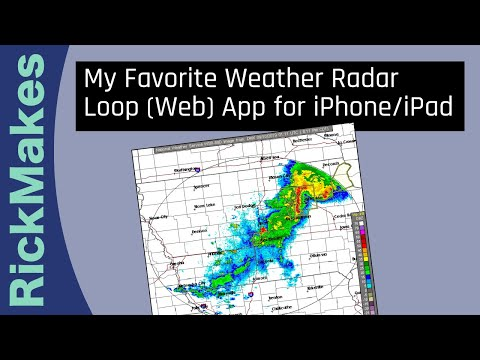 My Favorite Weather Radar Loop (Web) App For IPhone/iPad